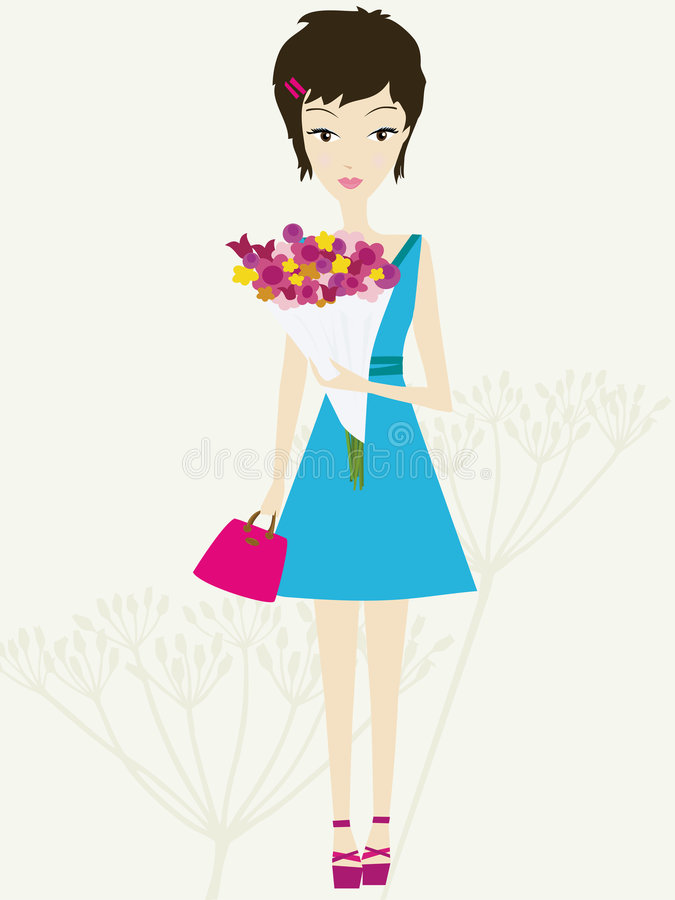 Bouquet de source illustration stock