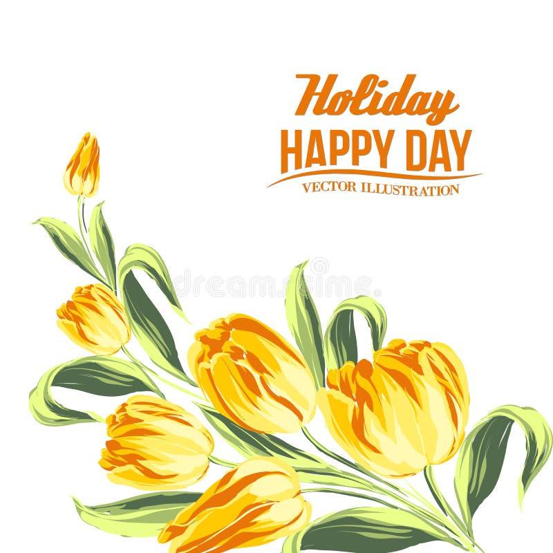 Bouquet de tulipe. illustration de vecteur