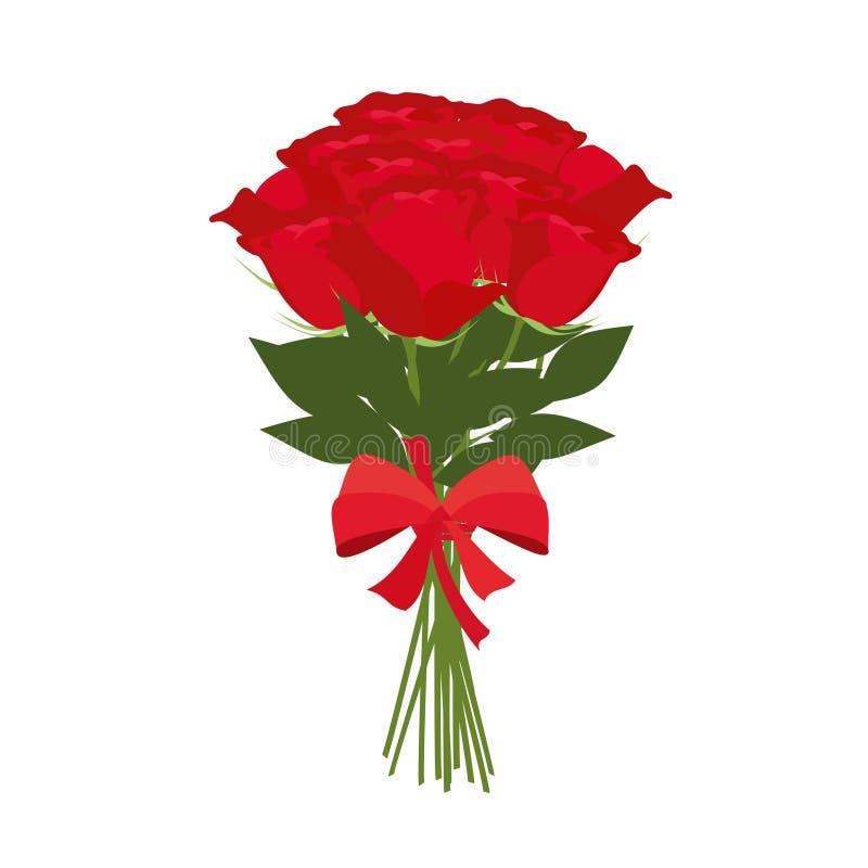 Bouquet de vecteur de roses illustration de vecteur