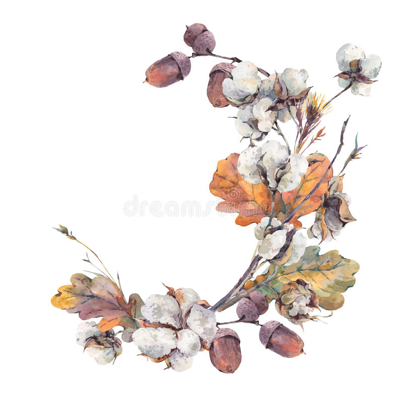 Bouquet de vintage d'automne d'aquarelle illustration stock