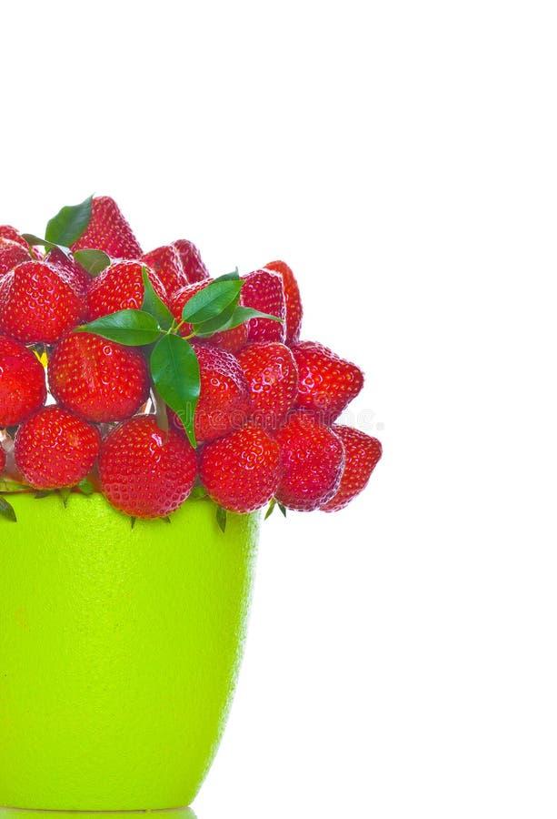 Bouquet des baies de fraise photographie stock