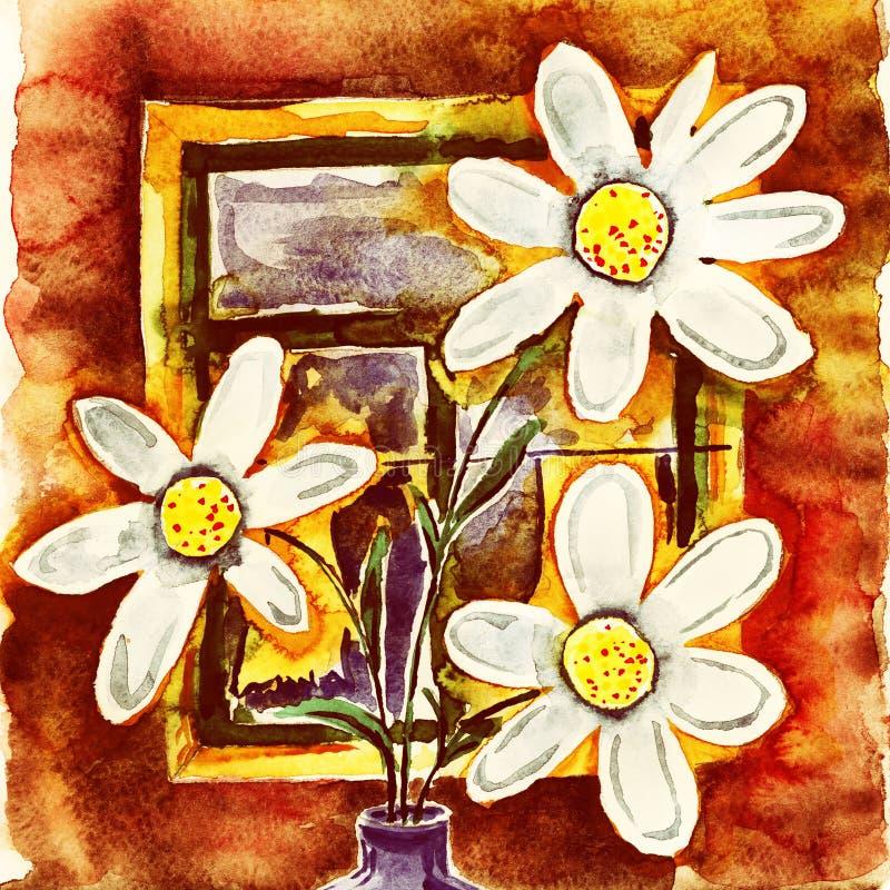 Bouquet des fleurs illustration de vecteur
