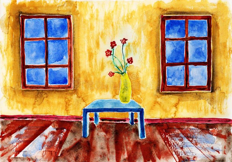 Bouquet des fleurs illustration stock