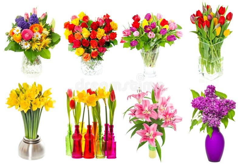 Bouquet des fleurs colorées tulipes, roses, lilas, narcisse, Li photo libre de droits