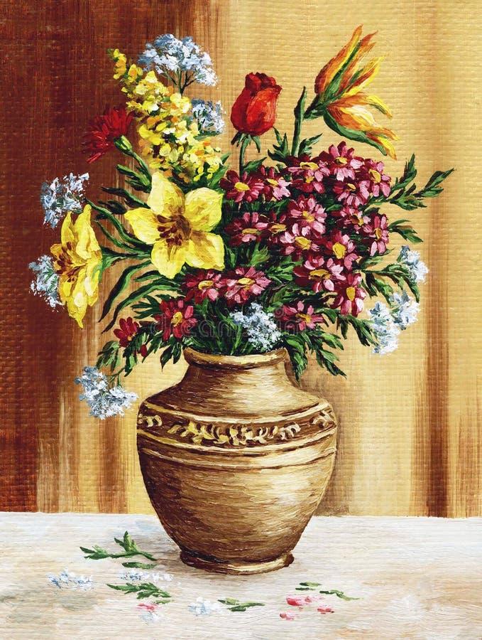 Bouquet des fleurs de jardin illustration de vecteur