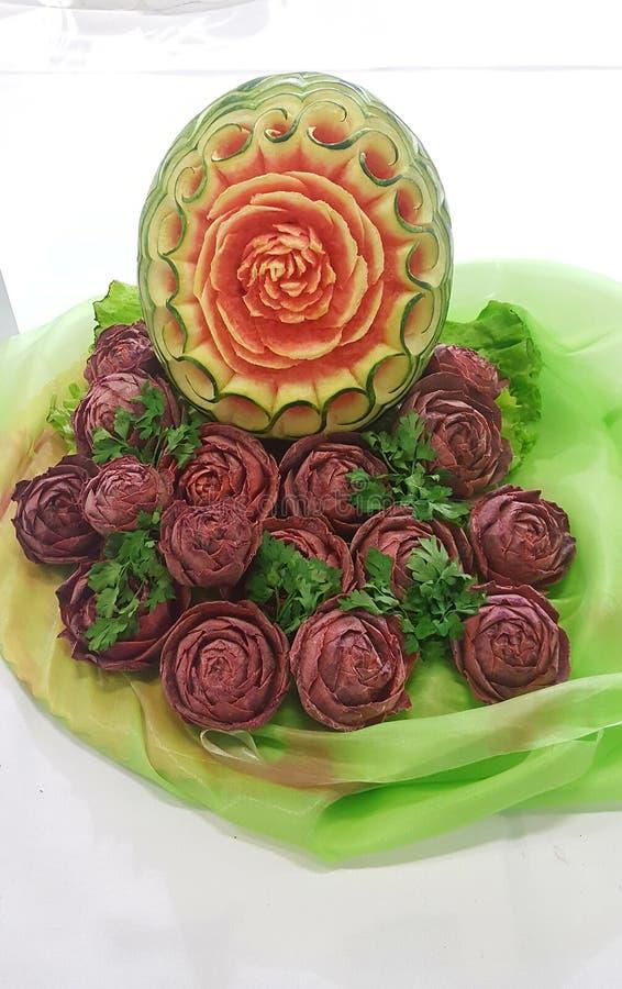 Bouquet des fleurs de la pastèque image libre de droits