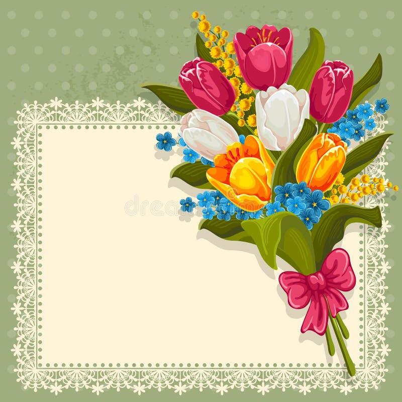 Bouquet des fleurs de source illustration de vecteur
