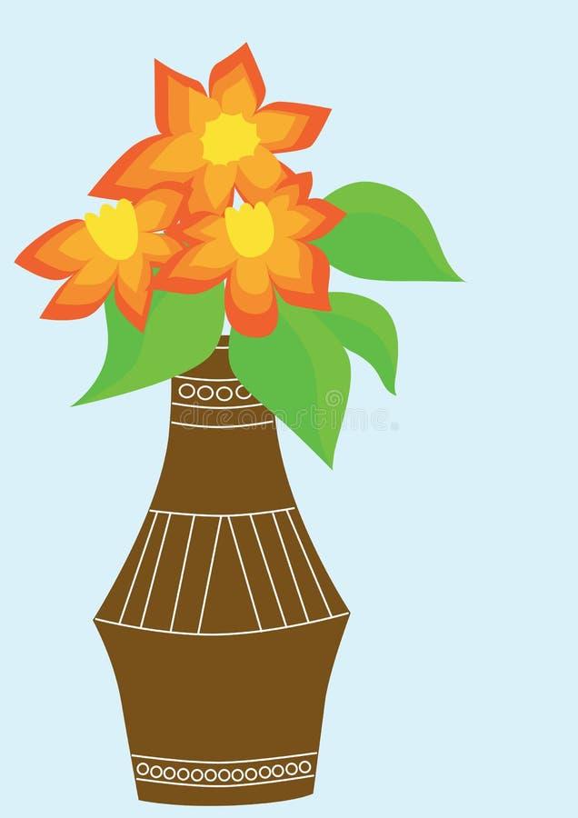 Bouquet des fleurs oranges image libre de droits