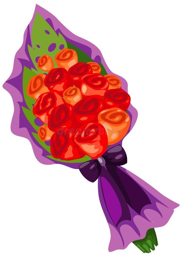 Bouquet des fleurs roses illustration libre de droits