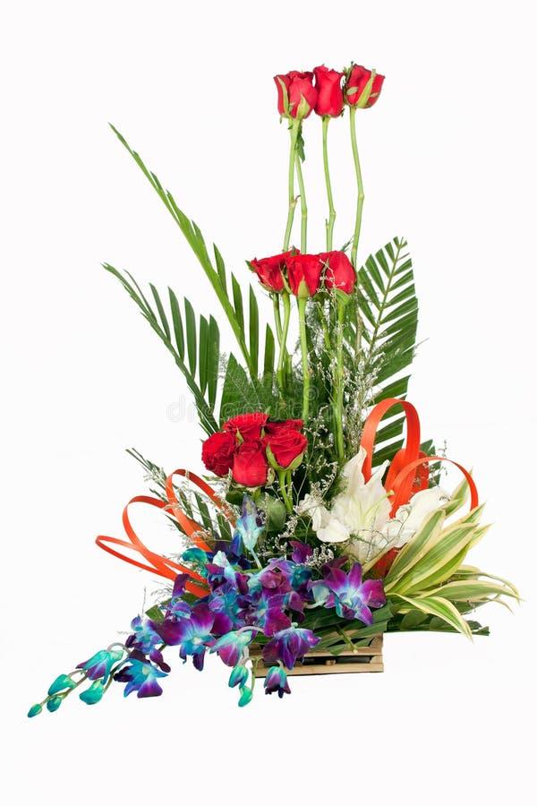 Bouquet des fleurs roses de rouge image libre de droits