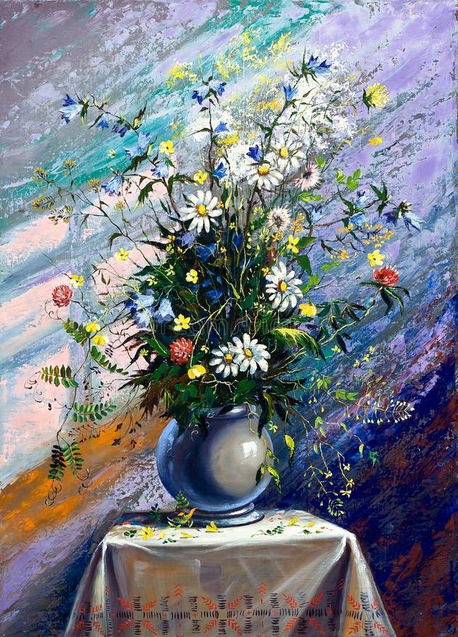 Bouquet des fleurs sauvages illustration de vecteur