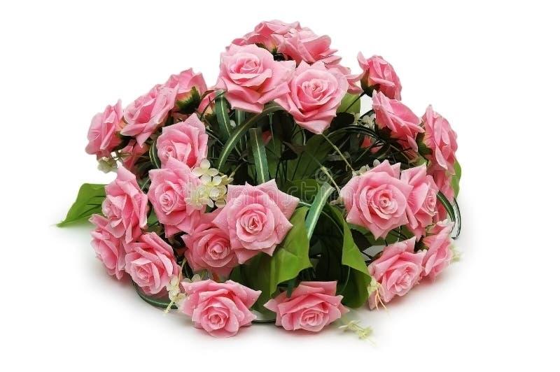 Bouquet Des Roses D Isolement Photographie stock libre de droits