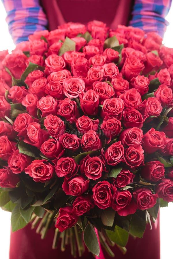 Bouquet des roses 101 morceaux image stock