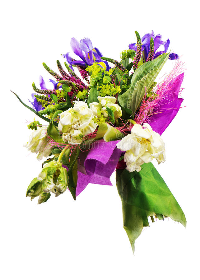 Bouquet des tulipes de l 39 iris du veronica et d 39 autres for Bouquet de tulipes