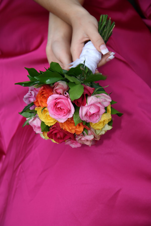 Download Bouquet on dress stock image. Image of relaxing, white - 4358193