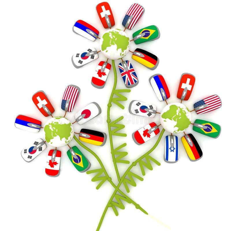 Bouquet exceptionnel illustration de vecteur