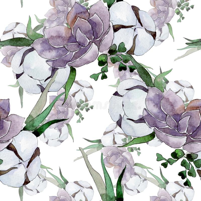 Bouquet floral botanical flowers. Watercolor background illustration set. Seamless background pattern. Bouquet floral botanical flowers. Wild spring leaf royalty free stock photo