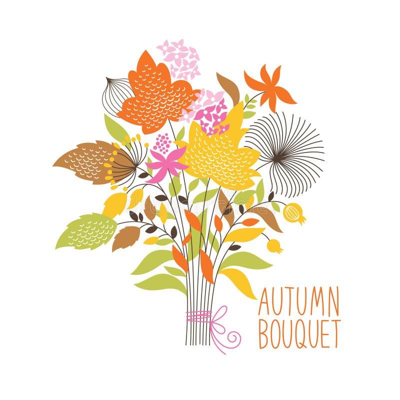 Bouquet floral d'automne illustration stock
