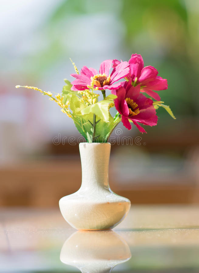 Bouquet of flower in vase royalty free stock images