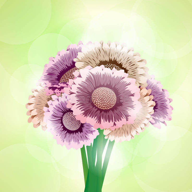 Download Bouquet of flowers stock vector. Image of greeting, colorful - 26143246
