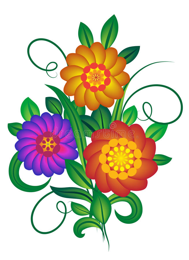 Download Bouquet of flowers stock vector. Image of bouquet, pattern - 9365611