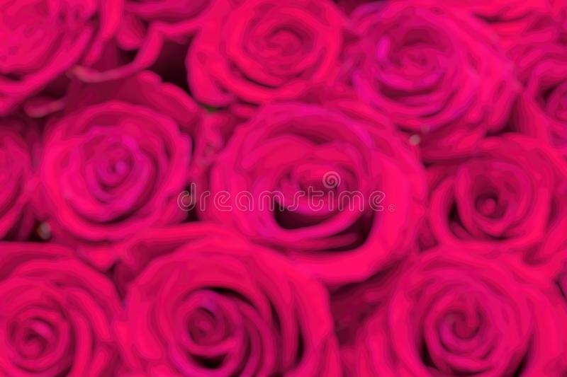 Defocused background. Bouquet of flowers. Fresh pink roses, closeup. Bouquet of flowers. Fresh pink roses, closeup. Defocused background royalty free stock photos