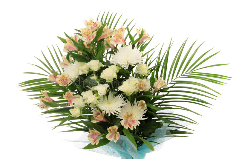 Bouquet flowers, isolated. stock image