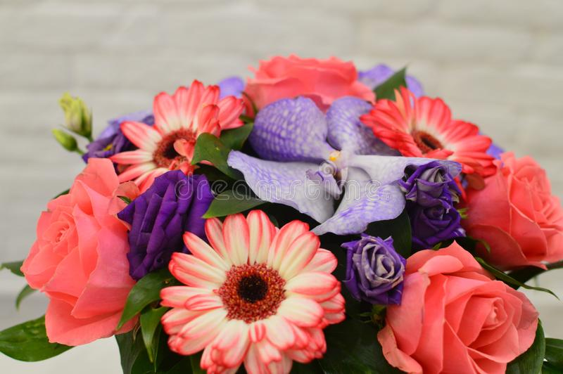 Bouquet of flowers for a Mother`s Day stock photo