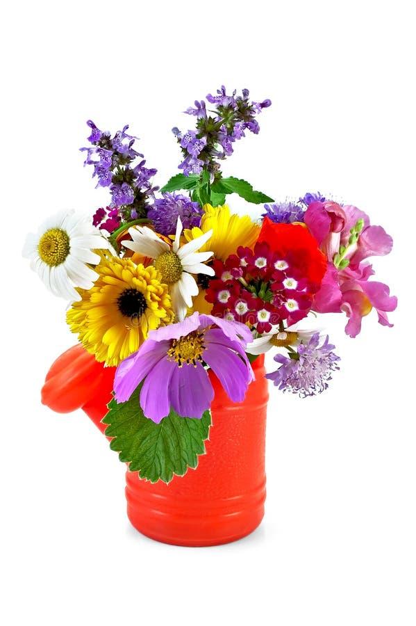 Bouquet of flowers in the nursery watering