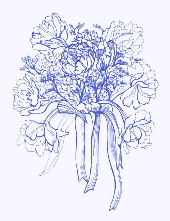 Bouquet of Flowers stock vector. Illustration of illustrations ...