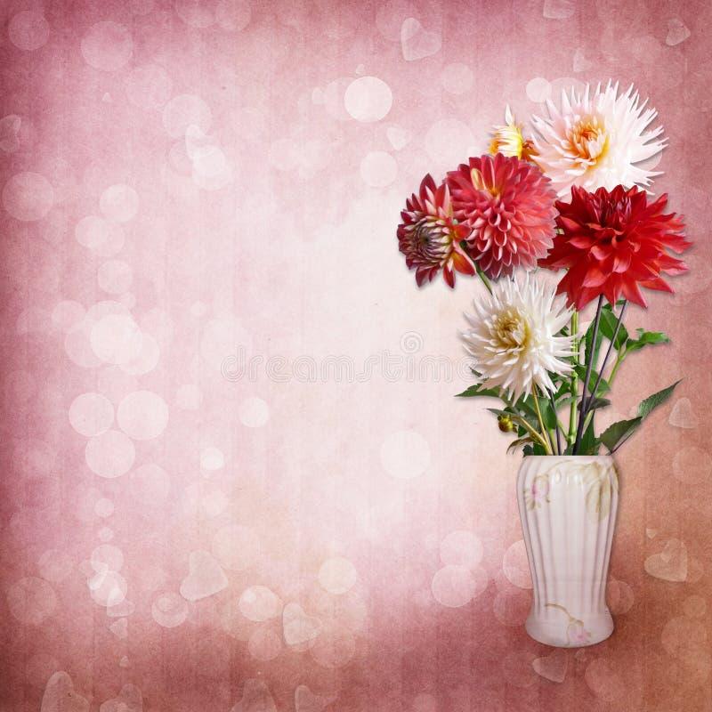 Download Bouquet Of Flowers On Vintage Background Stock Illustration - Image: 30724648