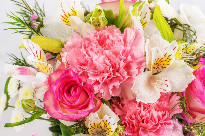 Bouquet of fresh colorful flowers royalty free stock images