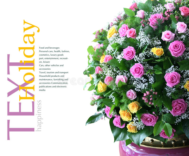 Bouquet of fresh flowers royalty free stock photography