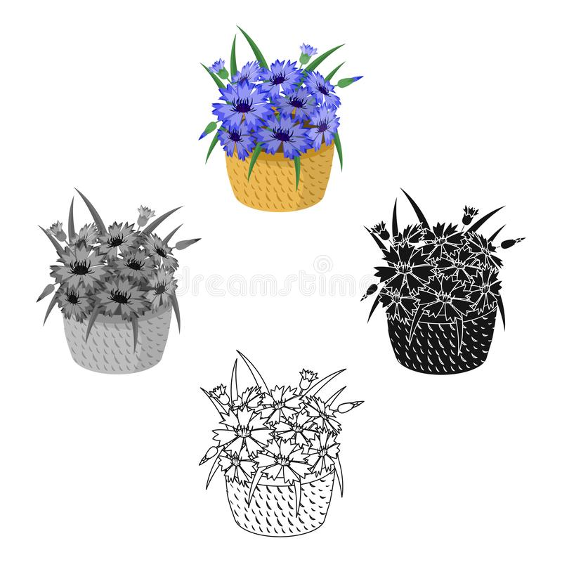 A bouquet of fresh flowers single icon in cartoon,black,black,monochrome,outline style for design. Bouquet vector symbol. Stock illustration vector illustration