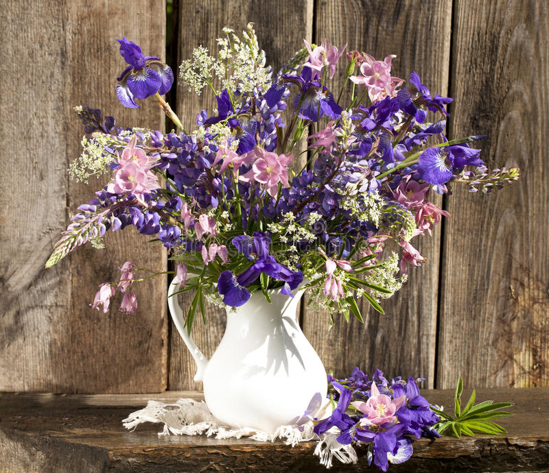 Download Bouquet of irises stock image. Image of blue, iris, freshness - 22996481