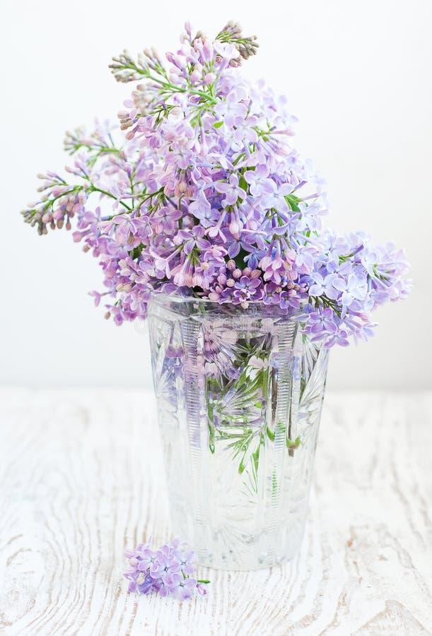 Bouquet of a lilac stock photos