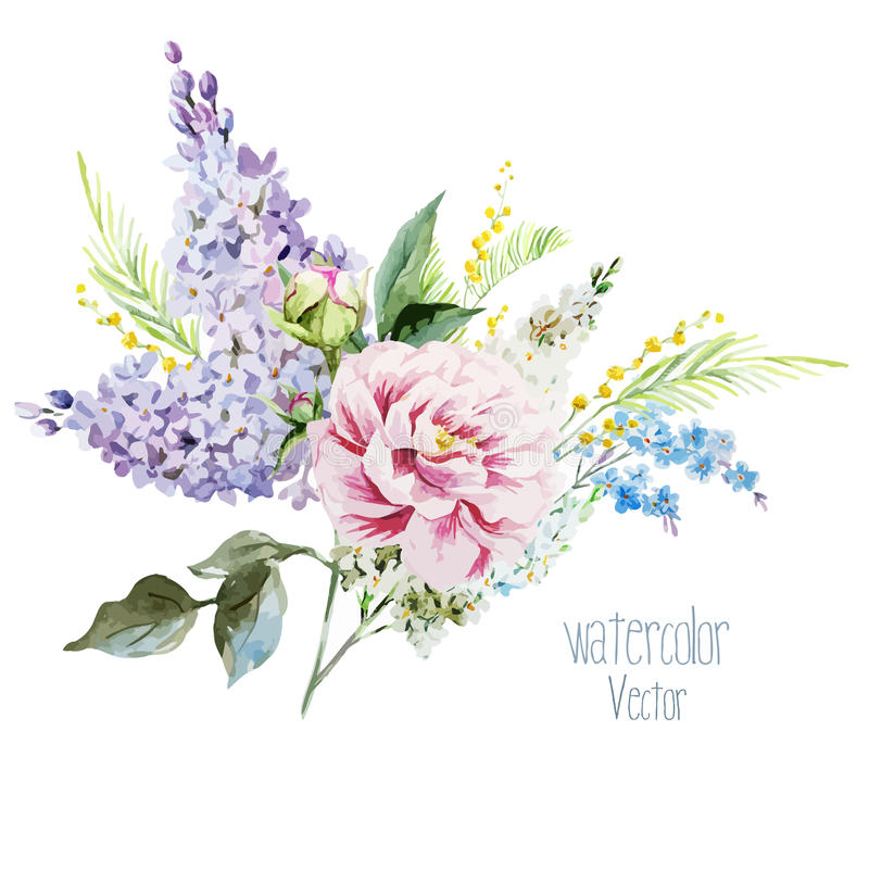 Bouquet lilas illustration stock