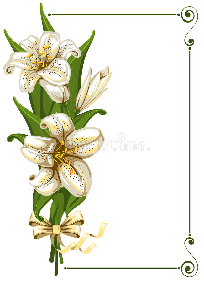 Download Bouquet with lilies stock vector. Illustration of artistic - 18653292