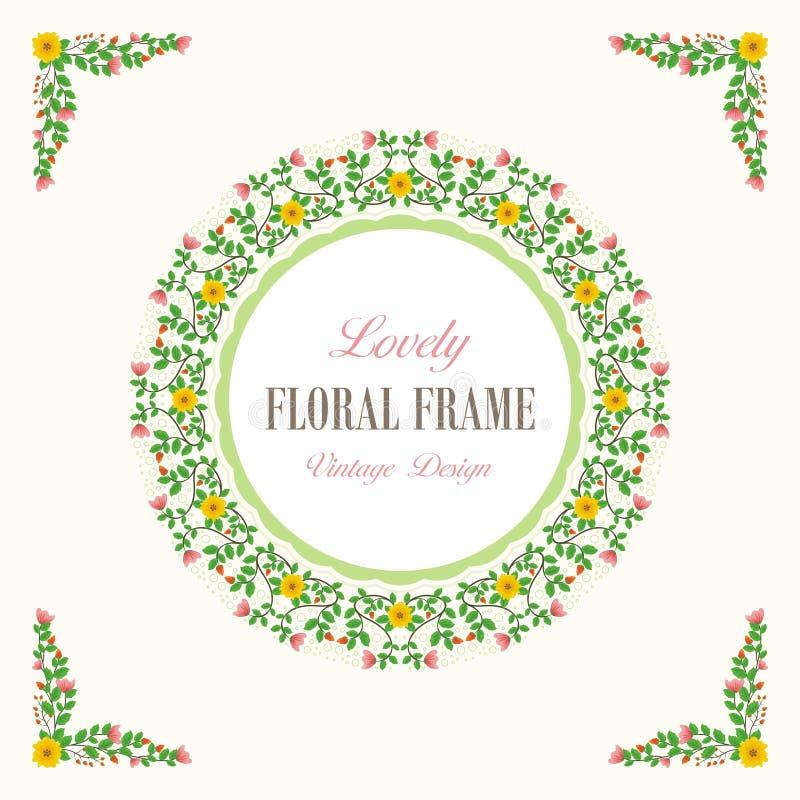Bouquet of Lovely Flowers Design stock illustration
