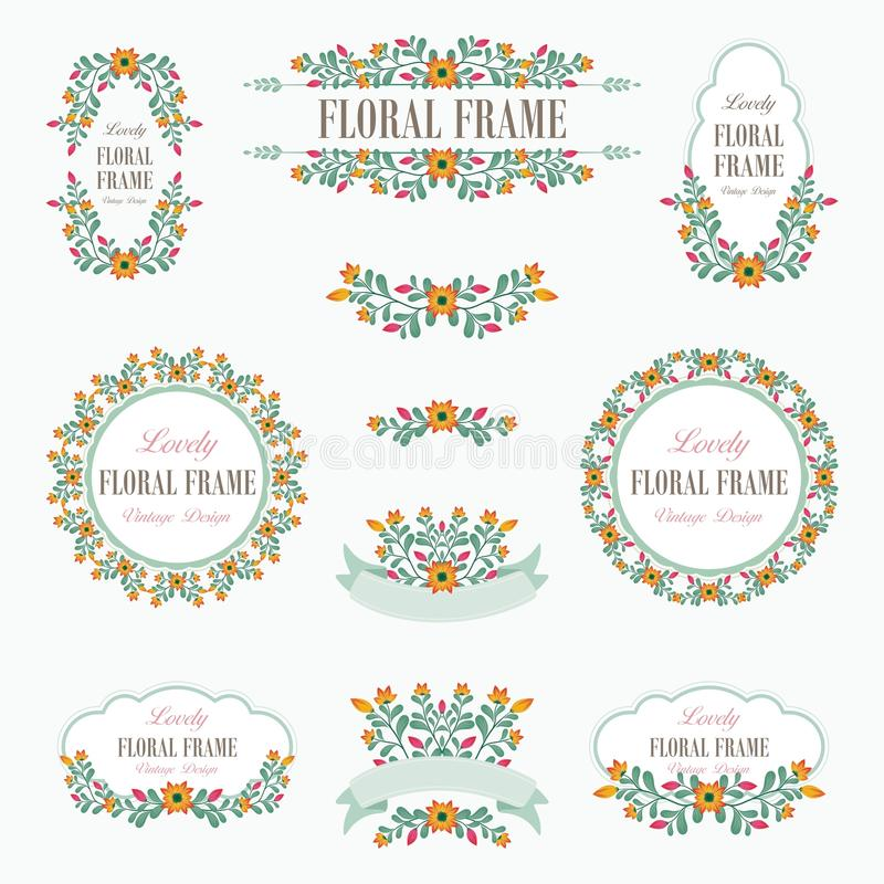 Bouquet of Lovely Flowers Design royalty free illustration