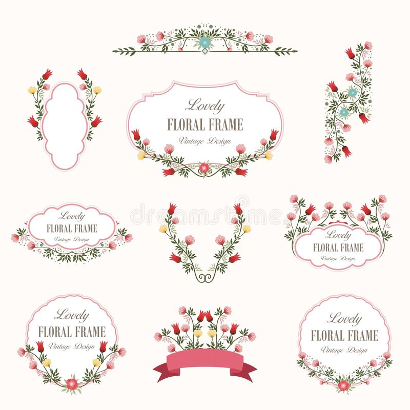 Bouquet of Lovely Flowers Design vector illustration