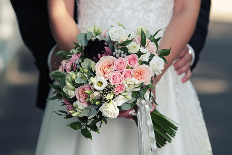 Bouquet lumineux de mariage photo stock
