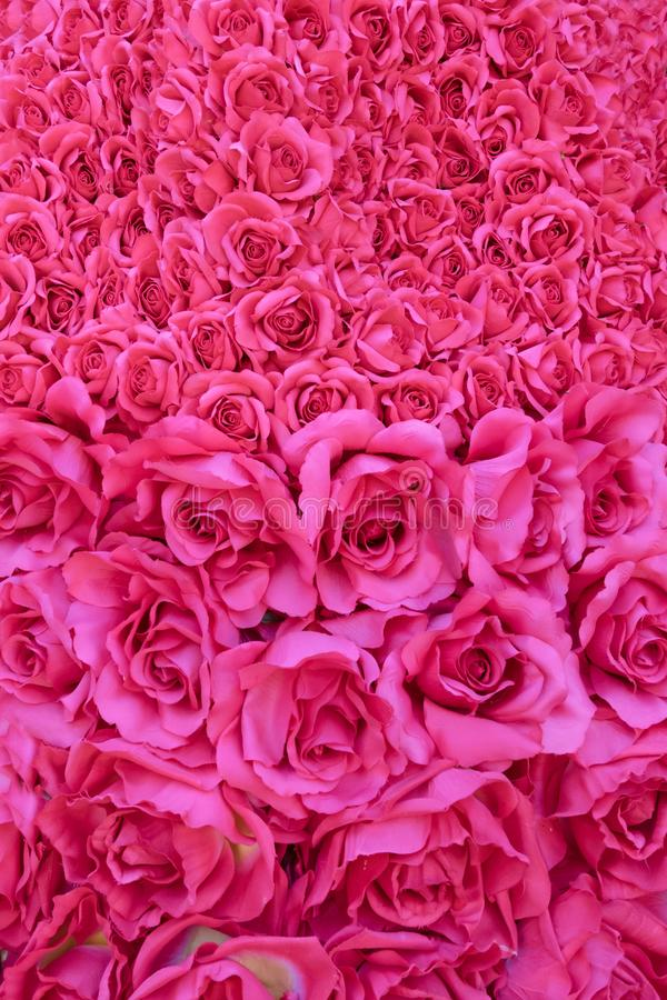 Bouquet made of red roses stock photography