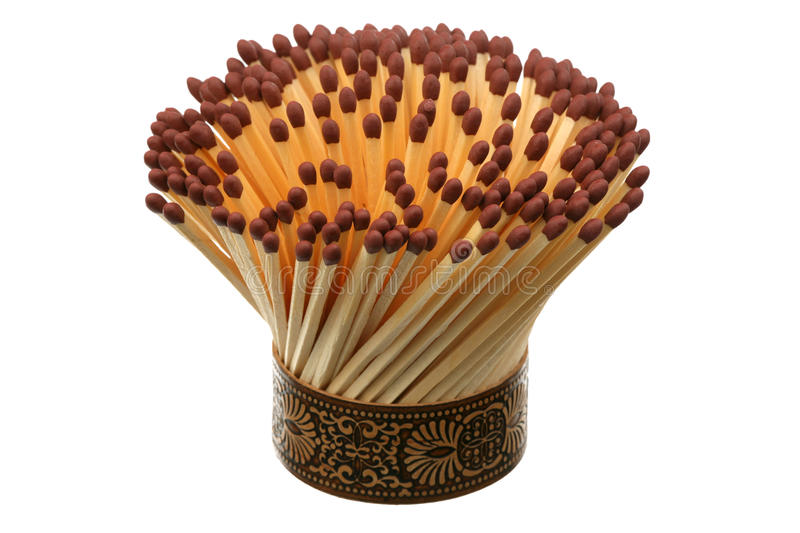 Bouquet of matches stock image