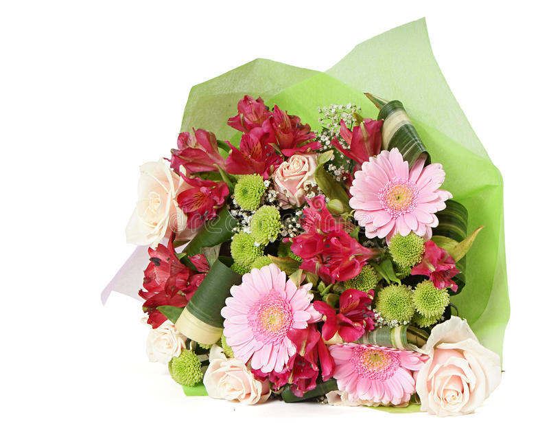 Bouquet of miscellaneous flowers royalty free stock image