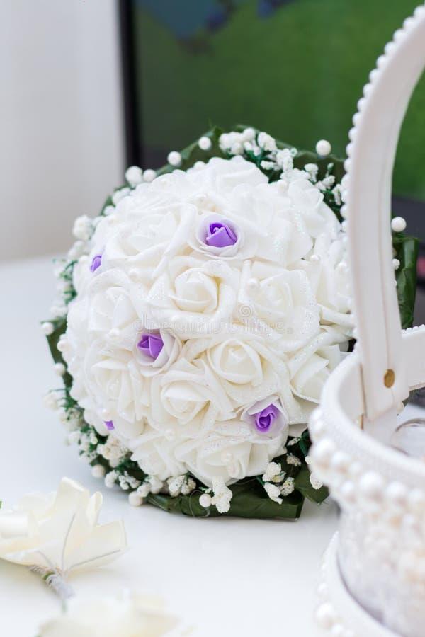 Bouquet nuptiale beige sensible photos libres de droits