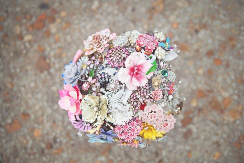 Bouquet nuptiale de broche photos stock