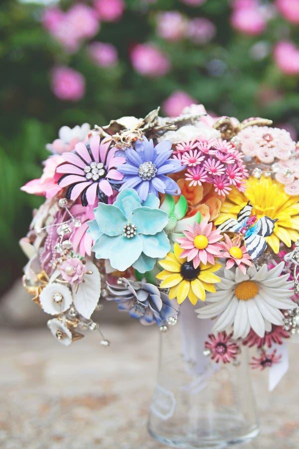 Bouquet nuptiale de broche images libres de droits