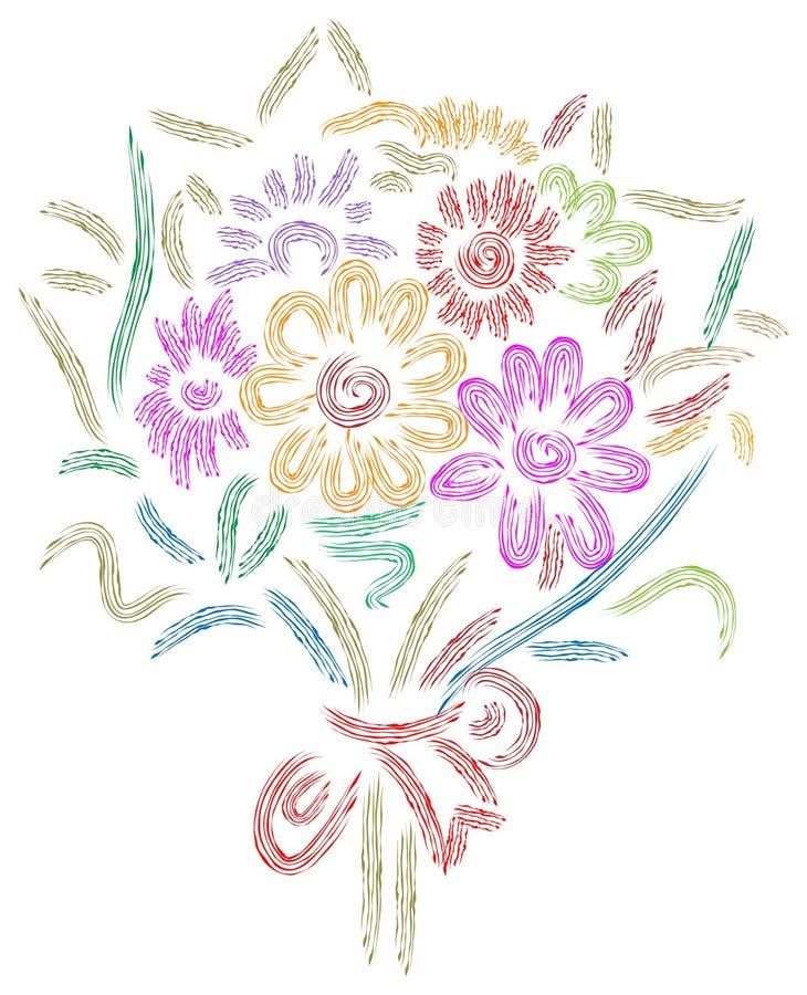 Bouquet nuptiale Wedding illustration stock