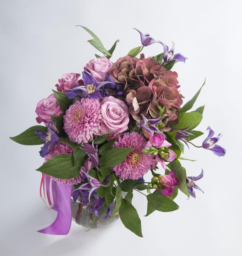 Free Bouquet Of Chrysanthemum, Clematis, Freesia And Hidranheya Stock Photography - 46807612